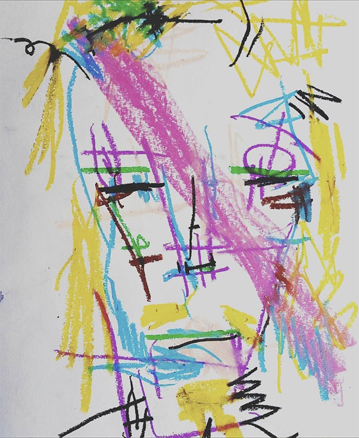 Choe Show crayon art