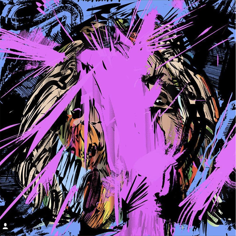 David Choe digital portrait