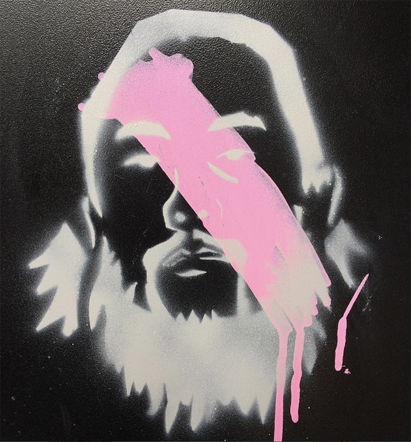 David Choe Stencil Portrait