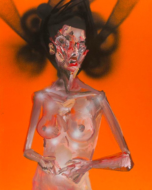 David Choe nude mixed media painting - the Choe Show