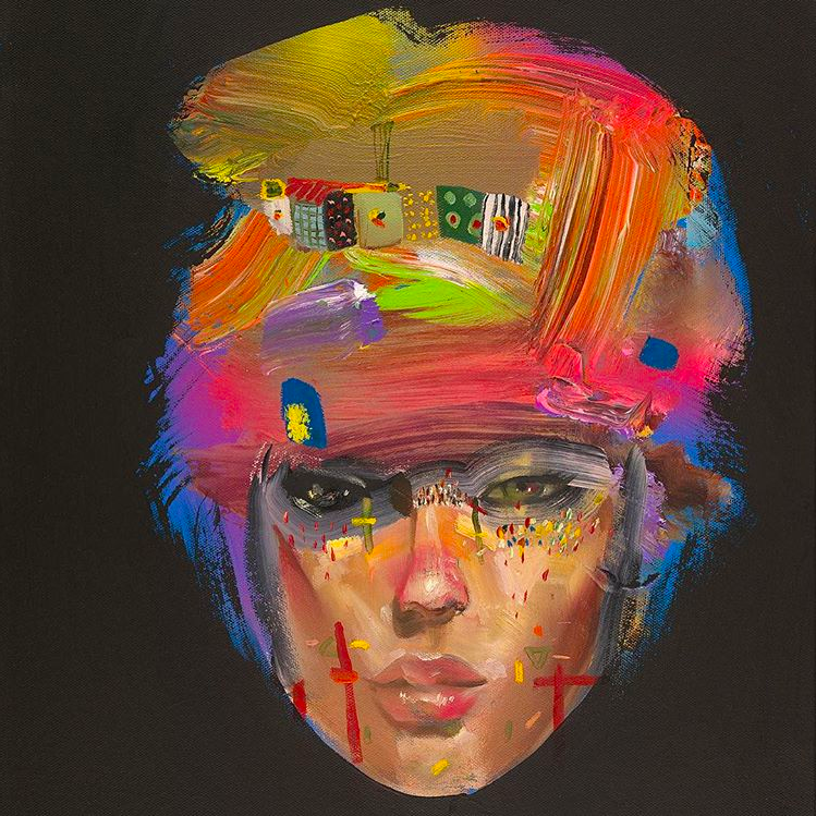 David Choe female face oil painting - the Choe Show