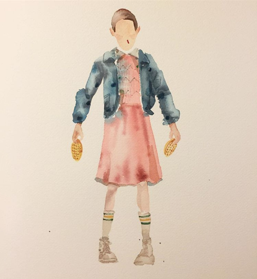 David Choe #11 watercolor - Stranger Things