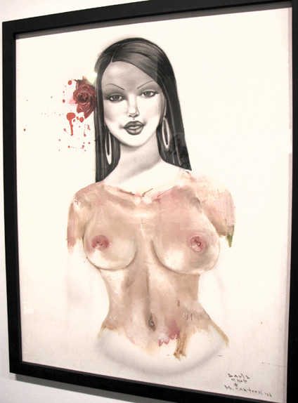 Rose by David Choe Frice Show 2006 mixed media art