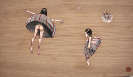 Floaters by David Choe Frice Show 2006 mixed media art