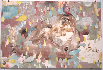 Whales Mist by David Choe Frice Show 2006 mixed media art