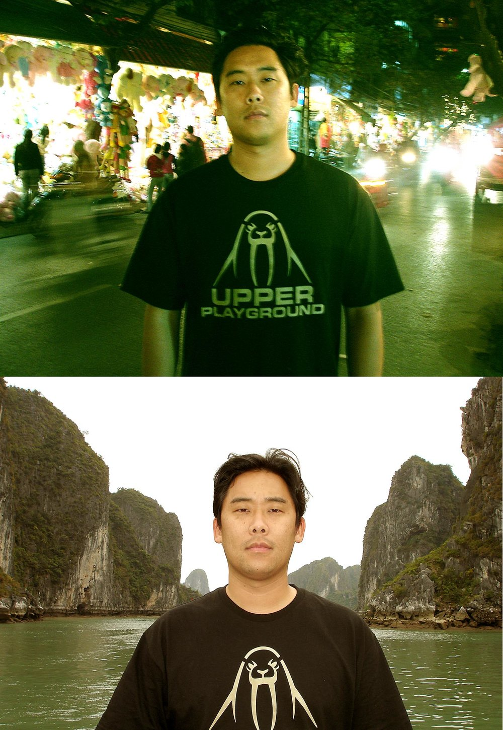 Portrait of artist David Choe in Hanoi Halong Bay Vietnam