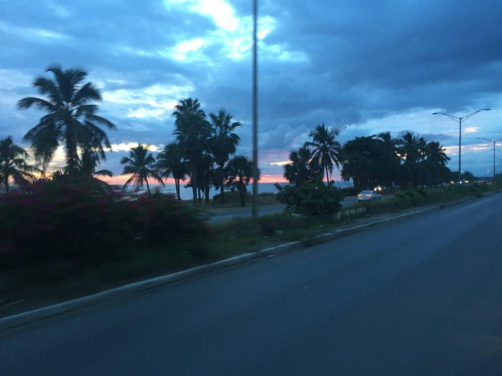 DR1116 Hwy sunset.JPG