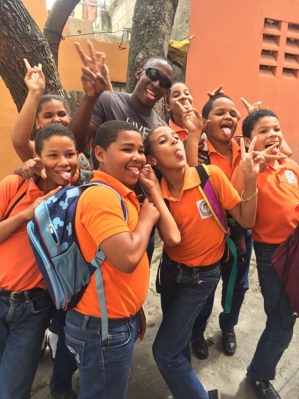 Afternoon students at Hogar de Ninos Tia Tatiana
