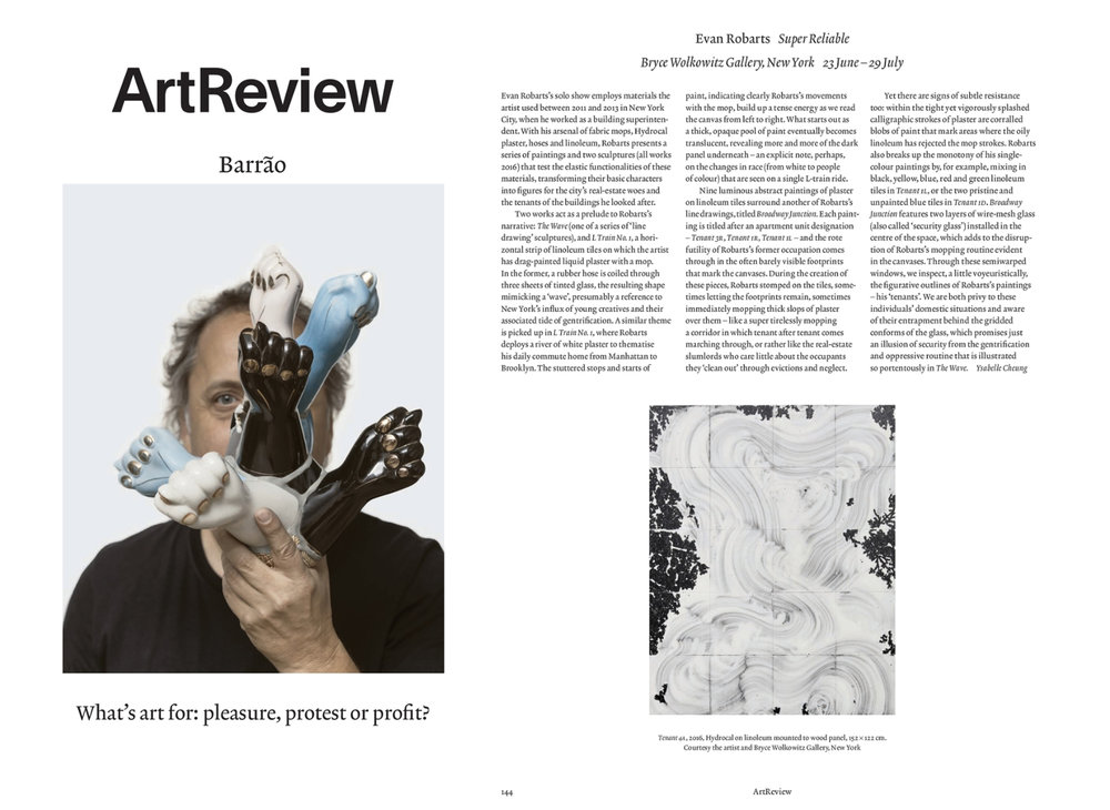Published in the September 2016 issue of ArtReview.