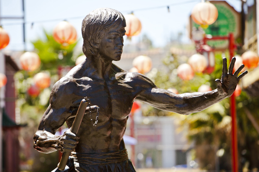 These Weapons - are held in such high regard that there is even a statue raised of the legendary Bruce Lee wielding them in Chinatown's iconic Central Plaza.