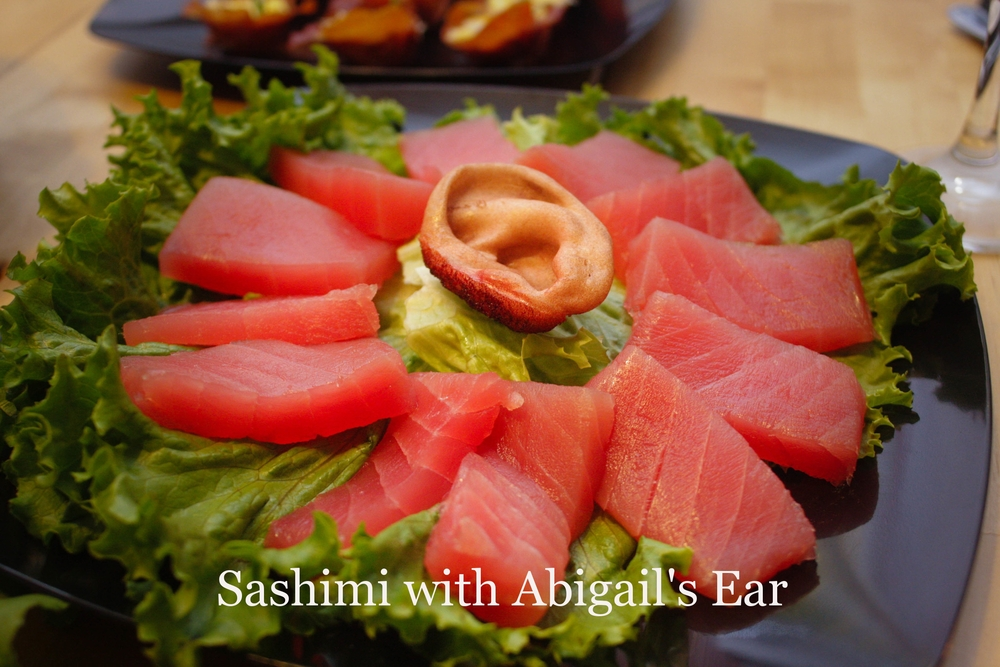 Sashimi with Abigail's Ear