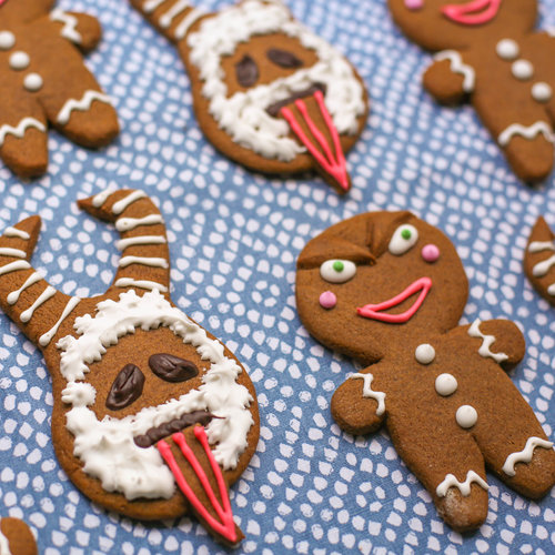 Krampus Gingerbread Cookies