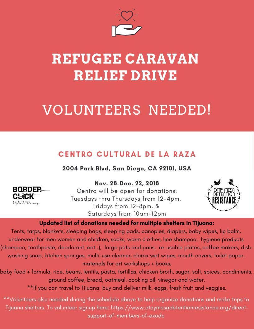 Refugee Caravan Relief Drive