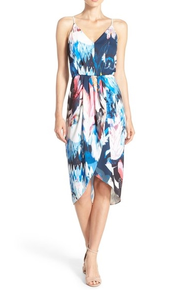 b702949ffea6 The Chlesea28 faux wrap print dress is perfect for summer wedding  festivities. The fabulous print and super flattering waistline matched ...