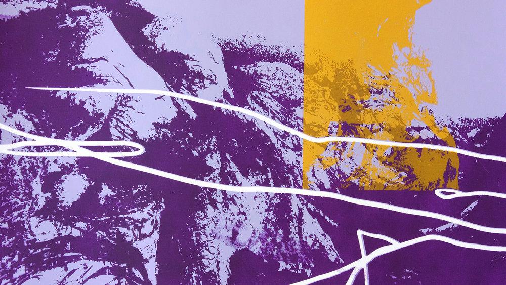 Detail of a silkscreen printed poster for  Laida Lertxundi: Landscape Plus  (2018)