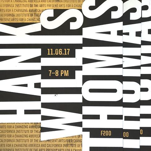 Hank Willis Thomas . Silkscreen poster for Hank Willis Thomas's talk at CalArts. Designed with Kathy Bates. (2017)