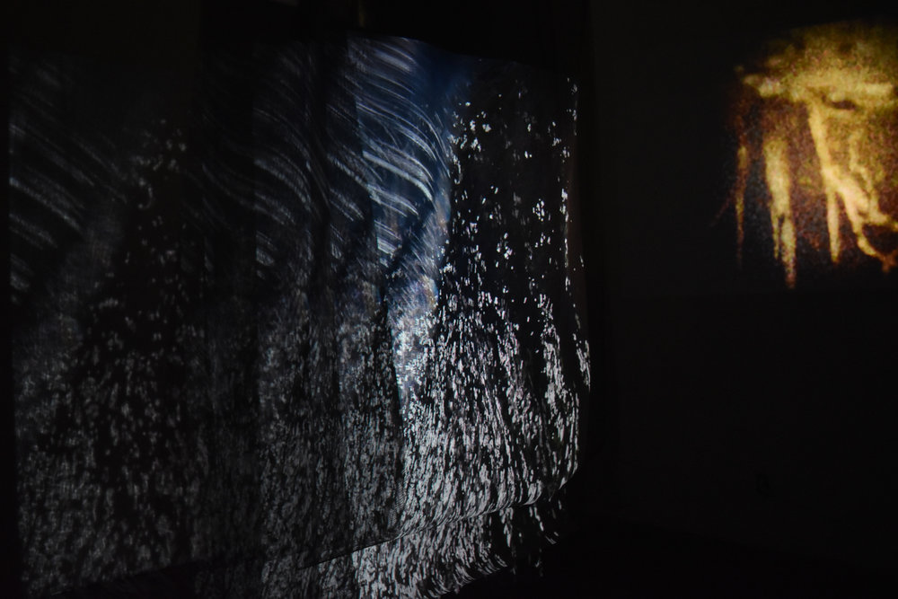 sand canyon  3-channel video and audio installation made in collaboration with Sarah Naim and Luna Galassini