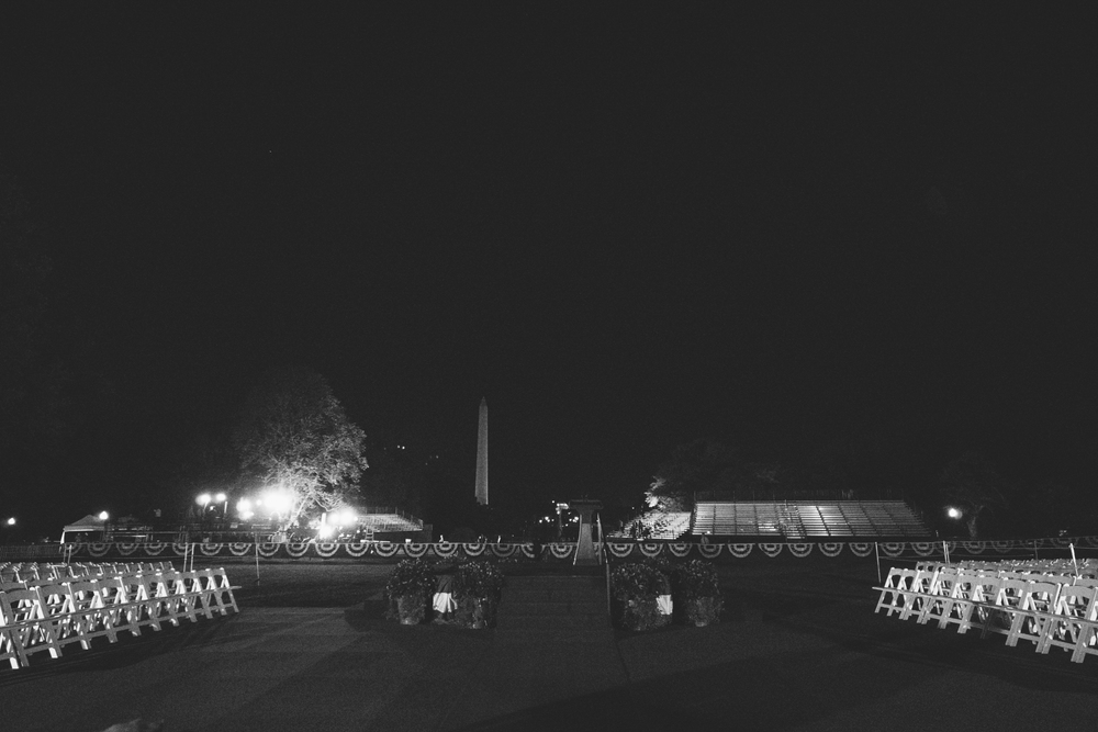 Looking south towards the Washington and Jefferson monuments.