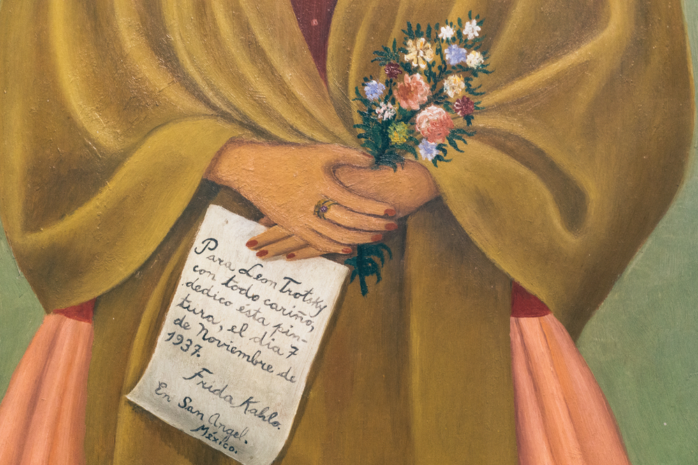 "Detail from Frida Kahlo's ""Self-Portrait Dedicated to Leon Trotsky"""