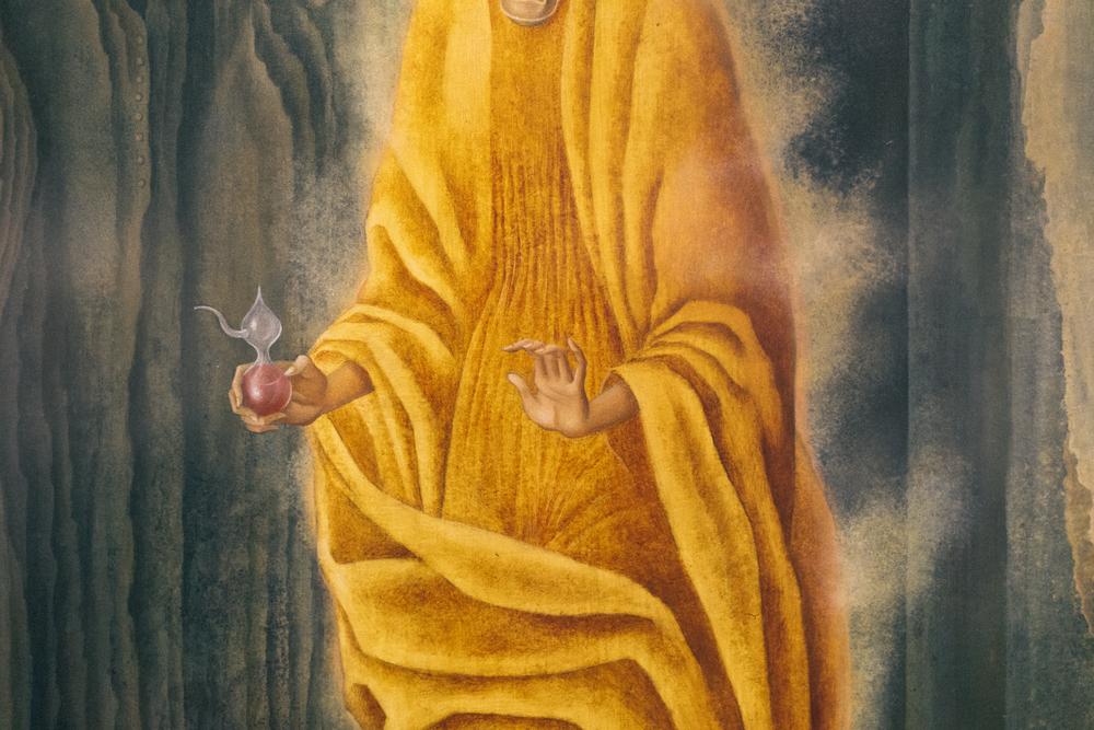 "Detail from ""La Llamada"" by Remedios Varo"