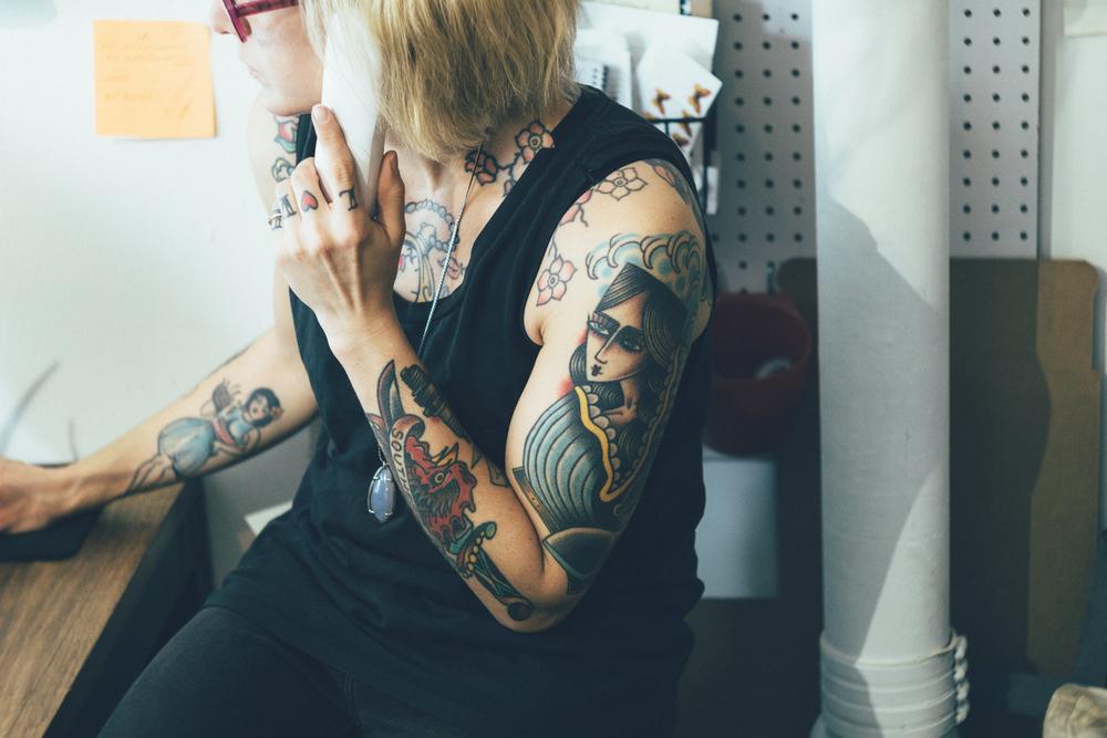 Personal work shot at  Typecase Industries , featuring  Emily Detoro .
