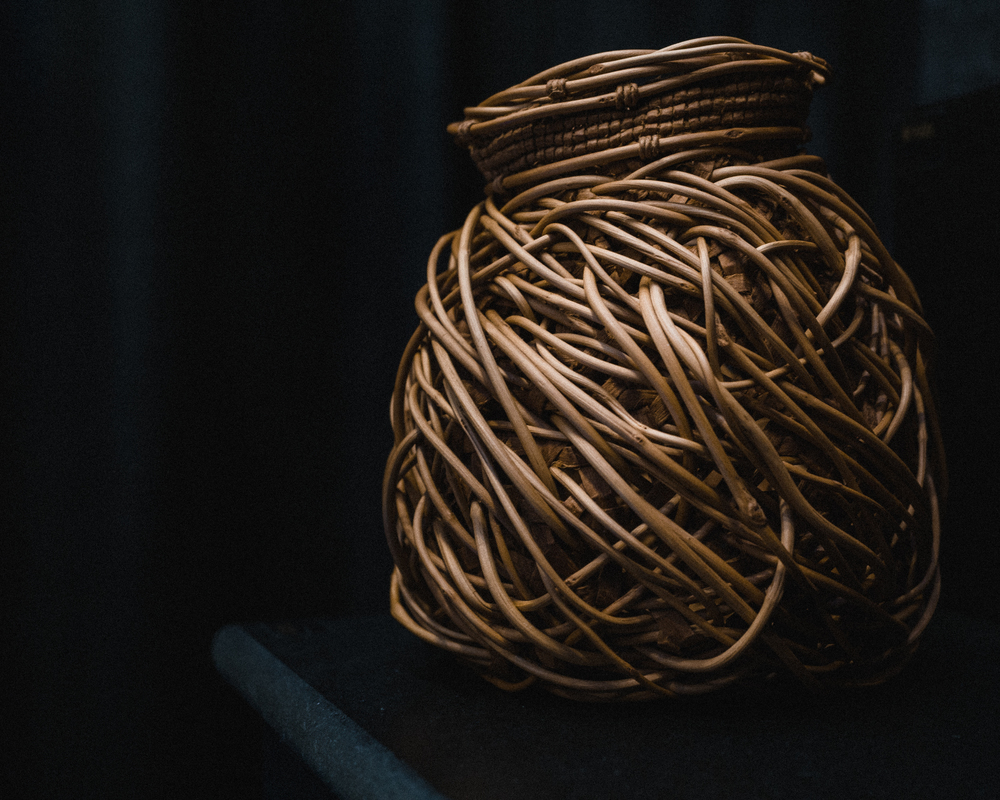 Jennifer Heller Zurick's willow bark baskets are intense, unexpected, and gorgeous.