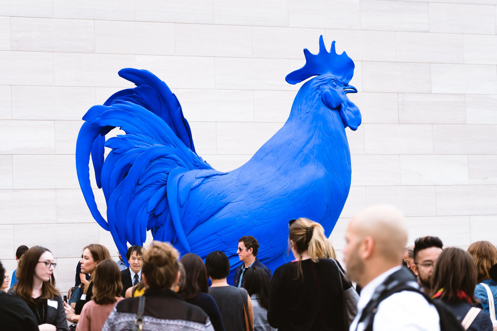 Hahn/Cock, by Katharina Fritsch, was a big hit with the crowd.