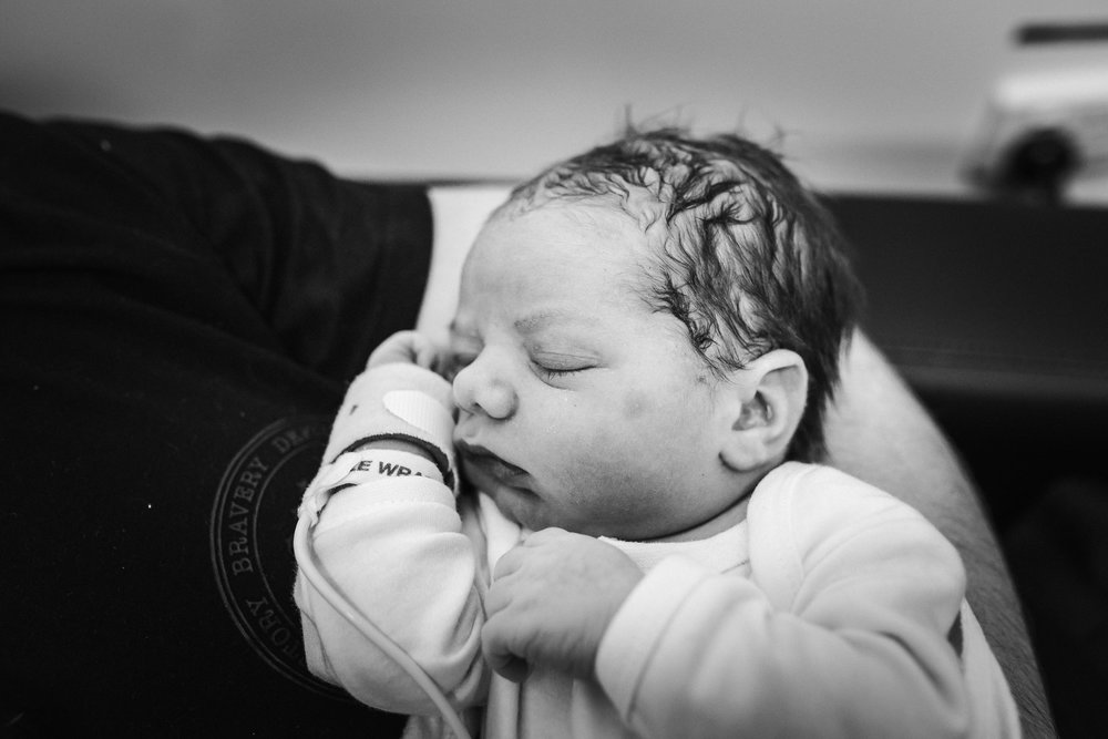 Belle Verdiglione Birth Photography Photographer Birth Story Documentary Evan Labour Newborn Sleeping Baby Newborn