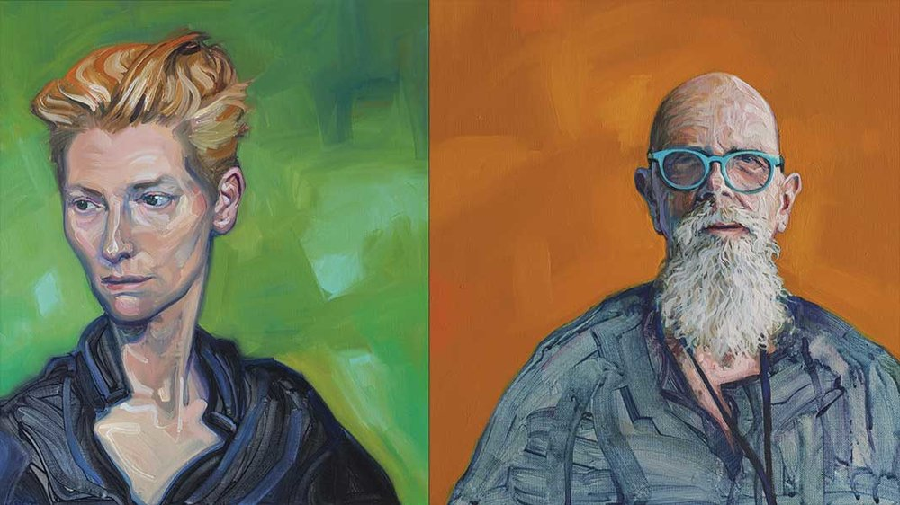 TILDA SWINTON & CHUCK CLOSE