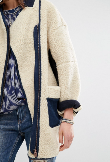 Maison Scotch Teddy Cocoon Coat