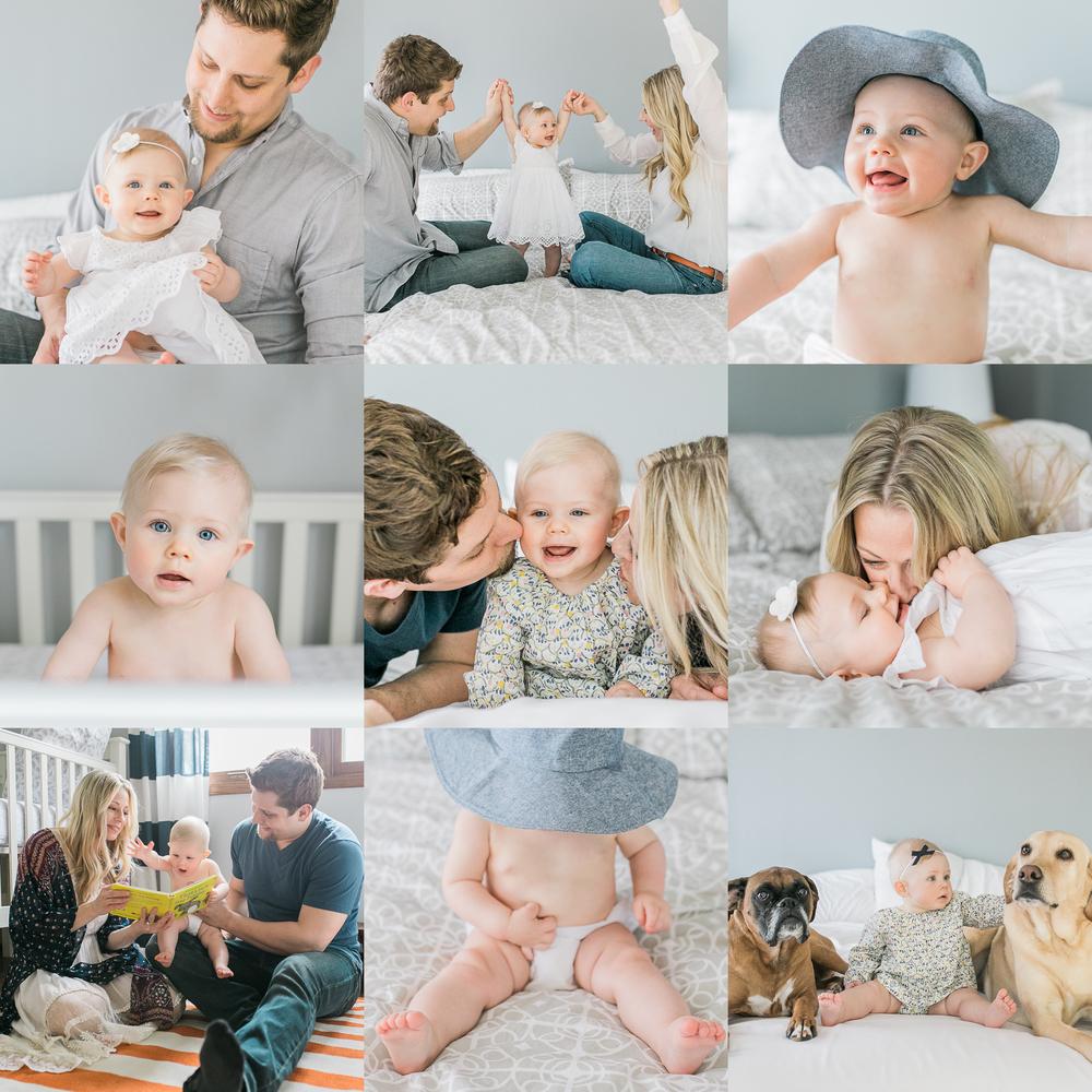 six month old photos milestone session vanessa wyler photography pewaukee
