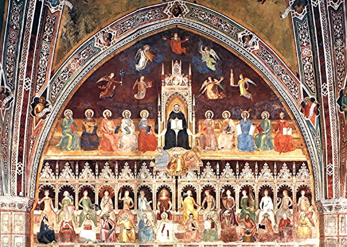 The Triumph of St. Thomas Aquinas, andrea da firenze c. 1368