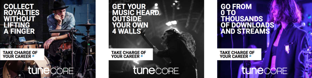 TuneCore / awareness campaign.   See more   Photography  Martin Crook