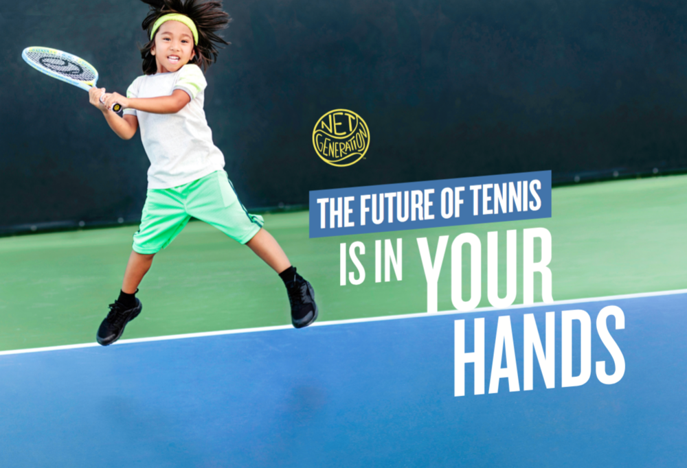 USTA Net Generation / print, website, social media