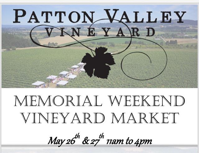 Join us @pattonvalley May 26th & 27th... we will be one the vendors at their vineyard market along with other great beverage producers, local food, and craft vendors. See you there! #drinkcider #shoplocal #willamettevalley