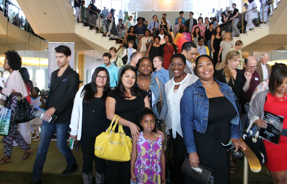 akuyoe GRAHAM and friends at an alvin ailey performance in 2015.