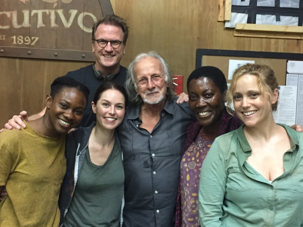 FROM LEFT: OMONO OKOJIE, WRITER SCOTT WILLIAMS (ABOVE), KATIE ROBERTS, DIRECTOR TONY WHARMBY, AKUYOE GRAHAM, ANNIE TEDESCO.