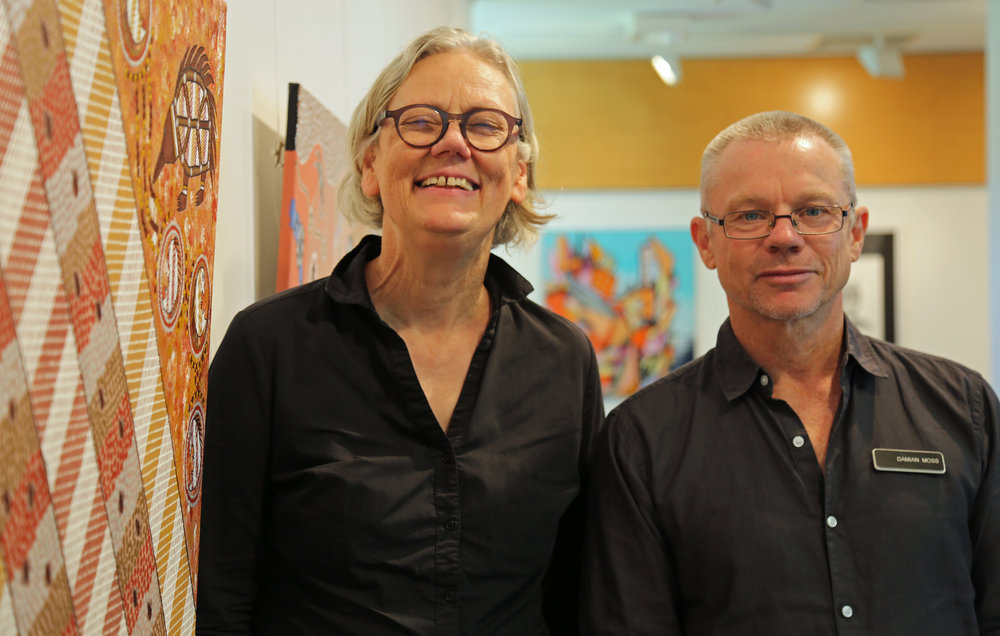 Elizabeth (L) and Damian (R) work at the gallery alongside Philipa. Images courtesy of CSNSW