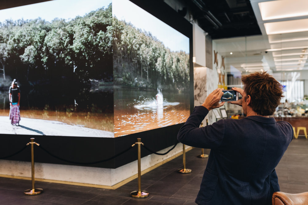 The last digital art in the space was themed around the element of water. Credit: Art Pharmacy Consulting/Savannah van der Niet