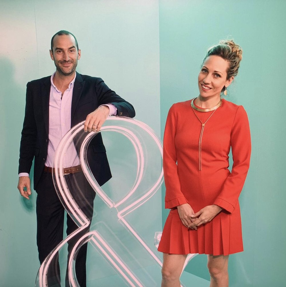 Emilya and Giles Colliver at the Sydney Tiffany & Co. grand reopening. Credit: Emilya Colliver.