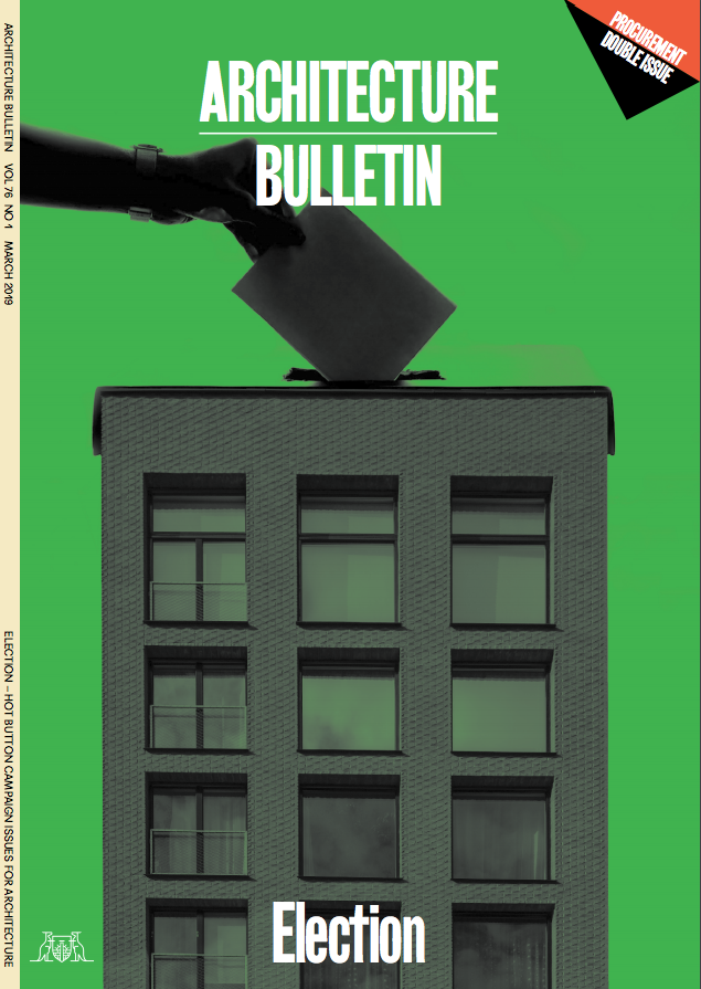 The focus of the edition was Procurement and Election issues. Credit: Architecture Bulletin