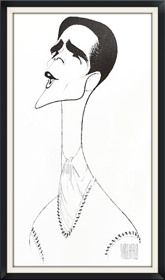 Howard in Anything Goes, by Al Hirschfeld.