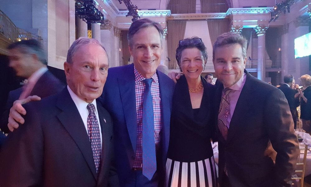 Former Mayor Bloomberg, Howard, Diana Taylor and Richard Samson.