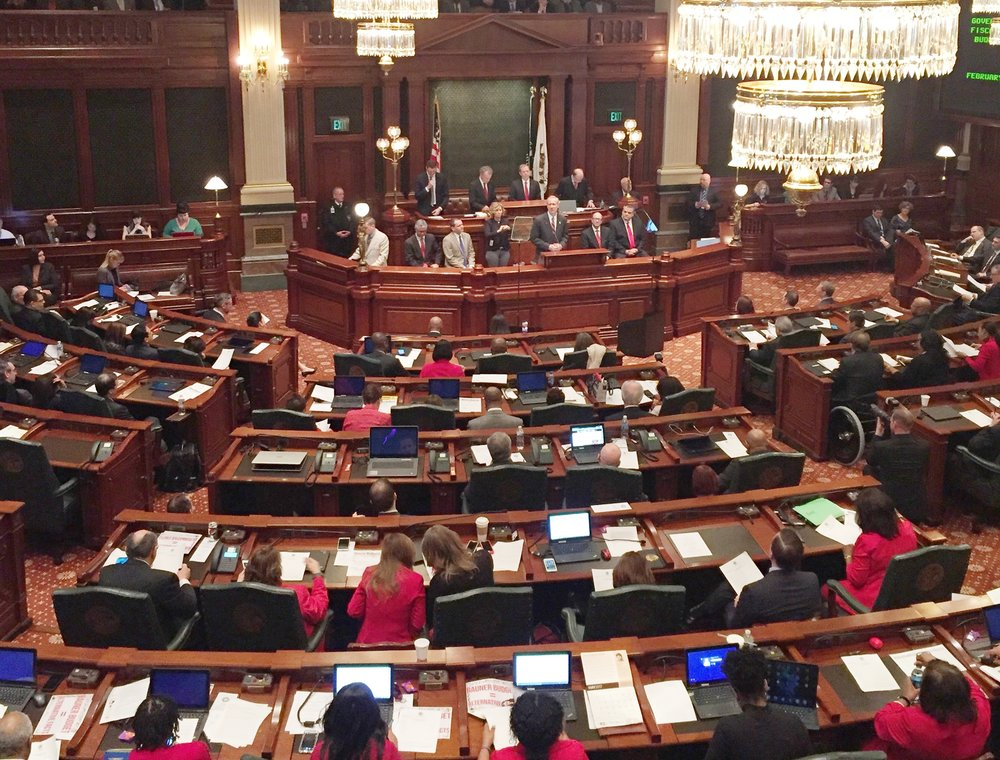 Governor Rauner delivered his 3rd budget address after two years of no current budget in Illinois February 15, 2017