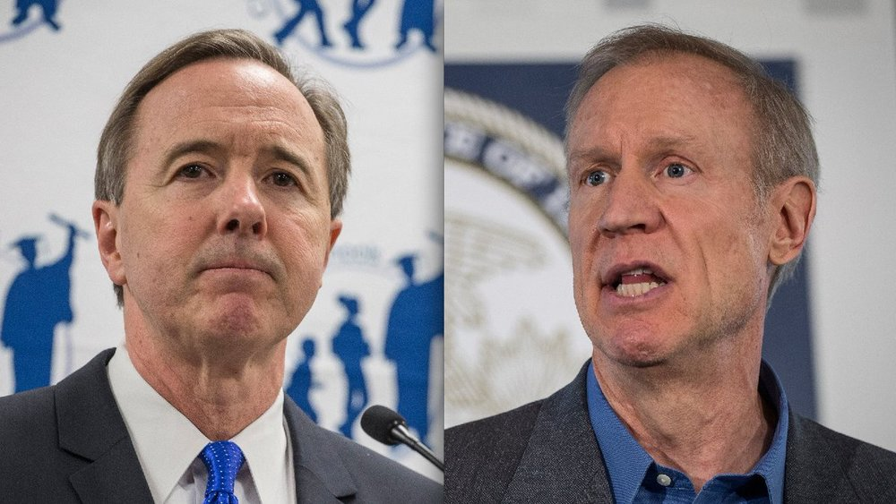 "In early February, CPS CEO Forrest Claypool compared Gov. Bruce Rauner to President Donald Trump. Claypool said both Republicans use ""bully tactics to silence those who disagree with him."" Photo: Chicago Sun Times. February 2017."