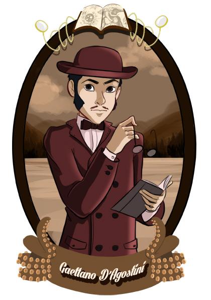 Gaëttano d'Agostini est un ami fidèle de Vanda Byron. Il travaille à son service depuis une dizaine d'années et l'aide à gérer sa fortune.