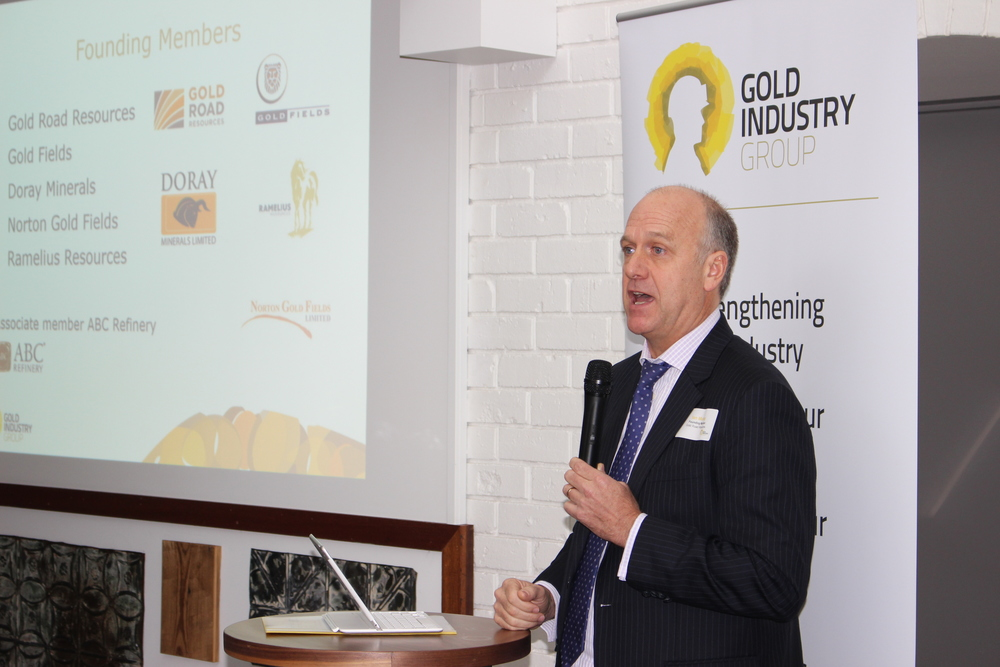 Executive Chairman of Gold Road Resources and founding member Ian Murray speaking at the launch