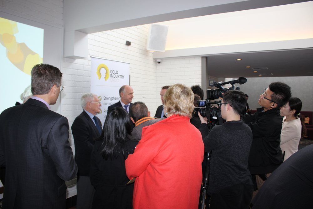 Gold Industry Group launch breakfast media interviews with Ian Murray and the Hon. Norman Moore