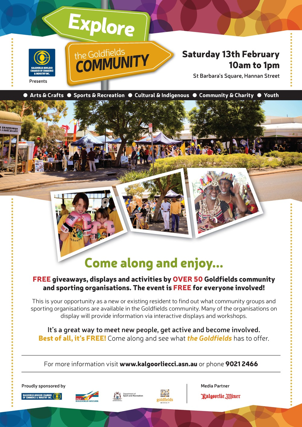 Goldfields Community Expo Flyer