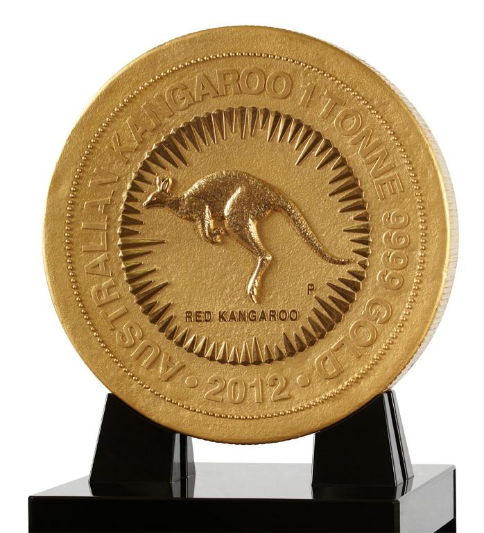 Australian Kangaroo One Tonne Gold Coin
